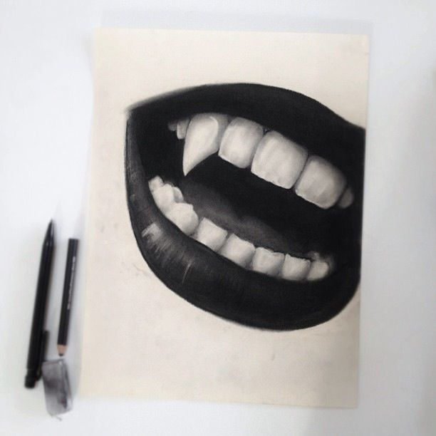 Pin By Pien On D R A W I N G S Vampire Drawings Lips Drawing Mouth Drawing