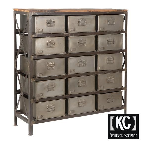 Industrial 15 Drawer Cabinet Dimensions Depth 16 Height 50 Width 48 This Is A New Item Industrial Storage Cabinets Industrial Storage Metal Storage Shelves