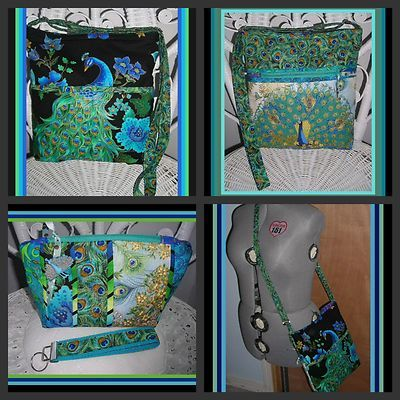 my last peacock purse set, for sale here:  http://cgi.ebay.com/ws/eBayISAPI.dll?ViewItem=290945758409
