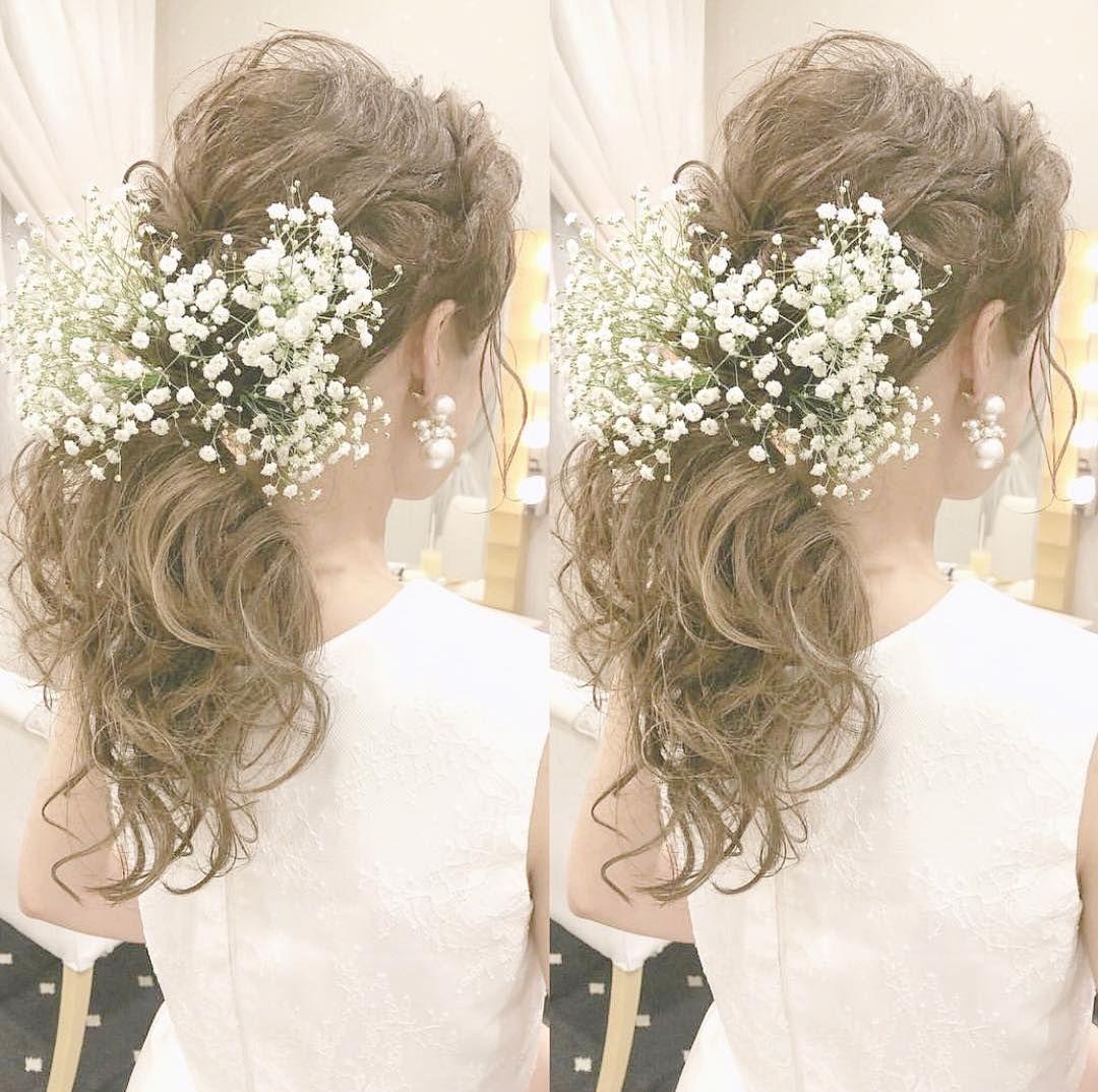 花嫁ヘアは ポニーテール で決まり おしゃれなアレンジ15選 結婚