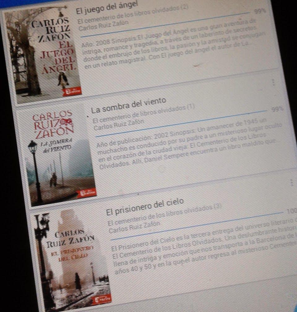 Páginas Colaterales: El cementerio de los libros olvidados (1, 2, 3 ...