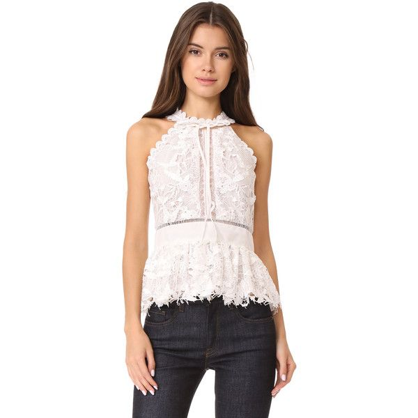 Marchesa Notte Guipure Sleeveless Cocktail Blouse 22 655 Inr