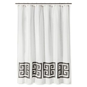 Threshold Greek Key Shower Curtain Shower Curtain