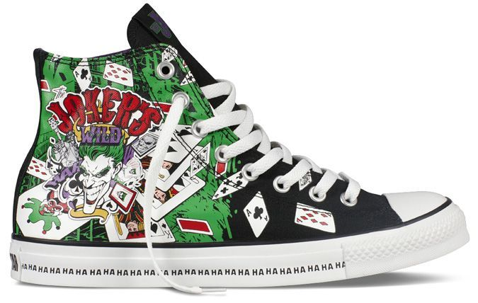 ba92c1052784 Astrelix   Dress s up like the joker and leans forward getting in your  personal bubble  Why so serious  Converse Chuck Taylor DC Comics ...