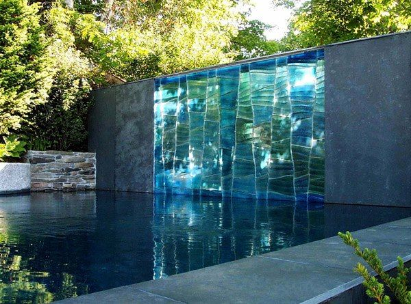 This Beautiful Glass Waterfall Was Created By Swon Design In