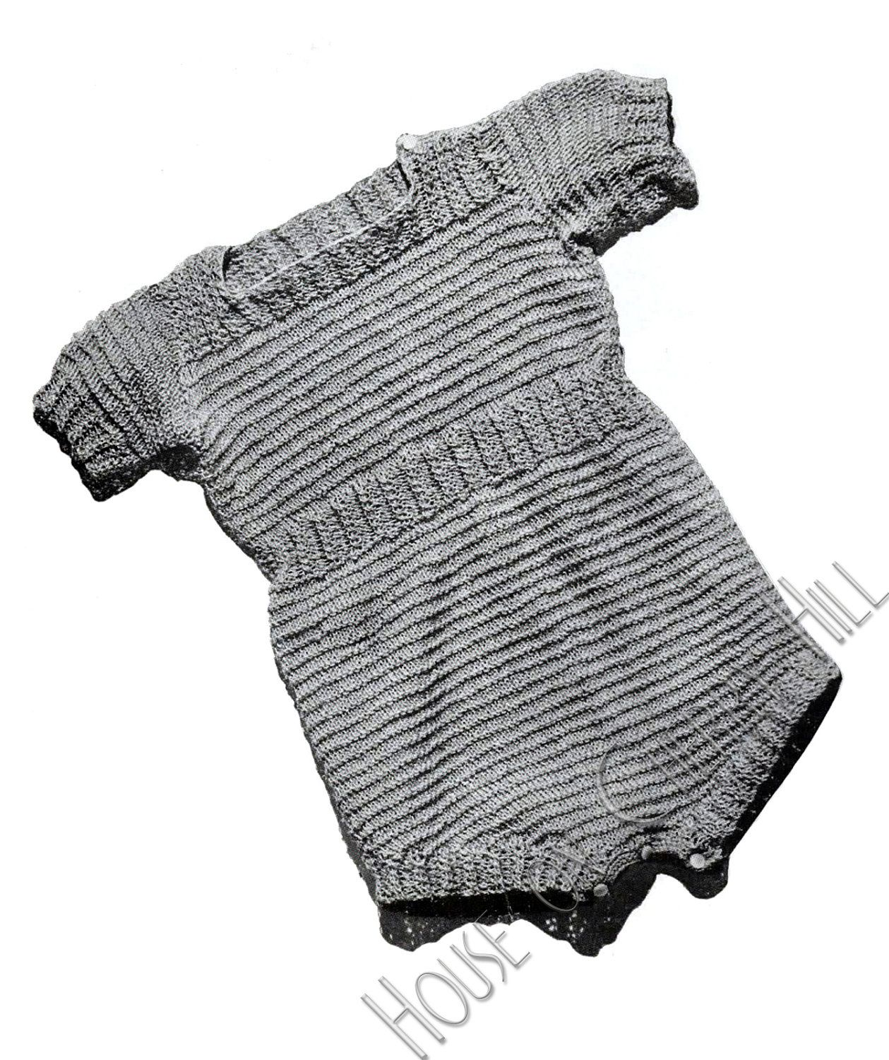 07c4278be461 Short Sleeve Romper Baby Outfit Knitting Pattern