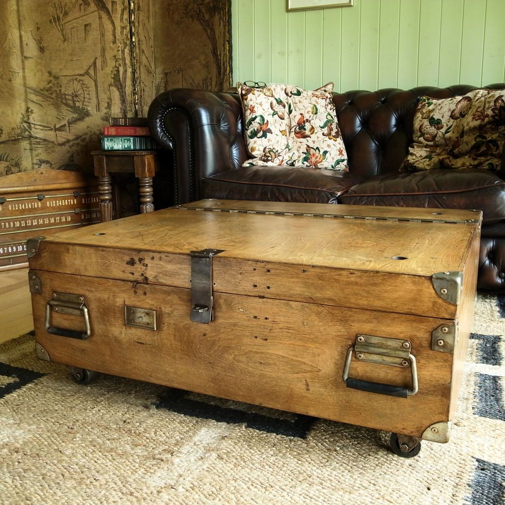 Vintage Military Chest Coffee Table Mid Century Industrial Chest Storage Trunk Mid Century Coffee Table Chest Coffee Table Storage Chest [ 1000 x 1000 Pixel ]