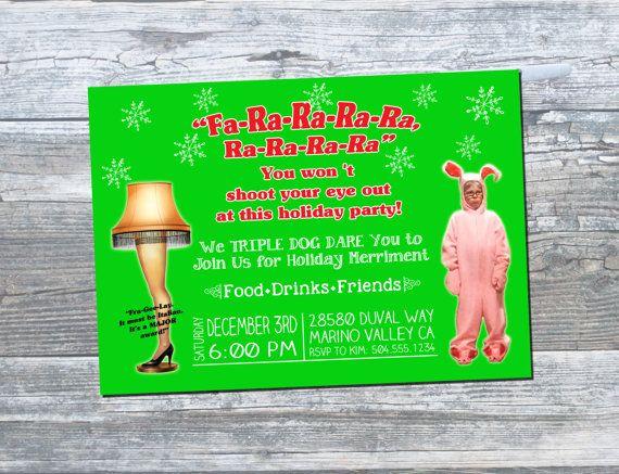 A Christmas Story Invitation, Leg Lamp Invitation, Ralphie Christmas
