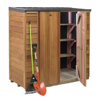 the cedar locker is a small garden shed with a difference why not add some