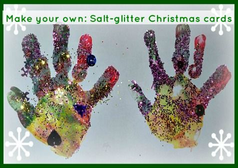 Hand Print - Make Your Own - Christmas Cards scrapbooking