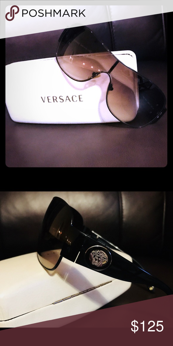 d8900919379 Versace sunglasses (men) Black metal frames