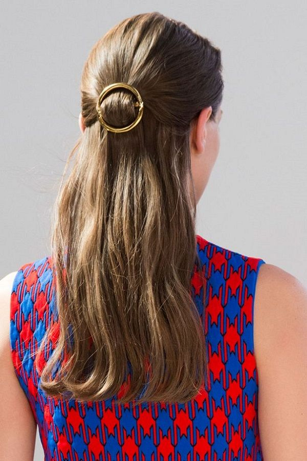 Barrette Hairstyles Fall Hair Trend Circle Barrette  Fanciable Hair  Pinterest  Fall