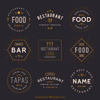 Vintage restaurant logos collection … | Logos | Pinterest ...