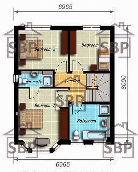 planos de casas modernas de tres pisos
