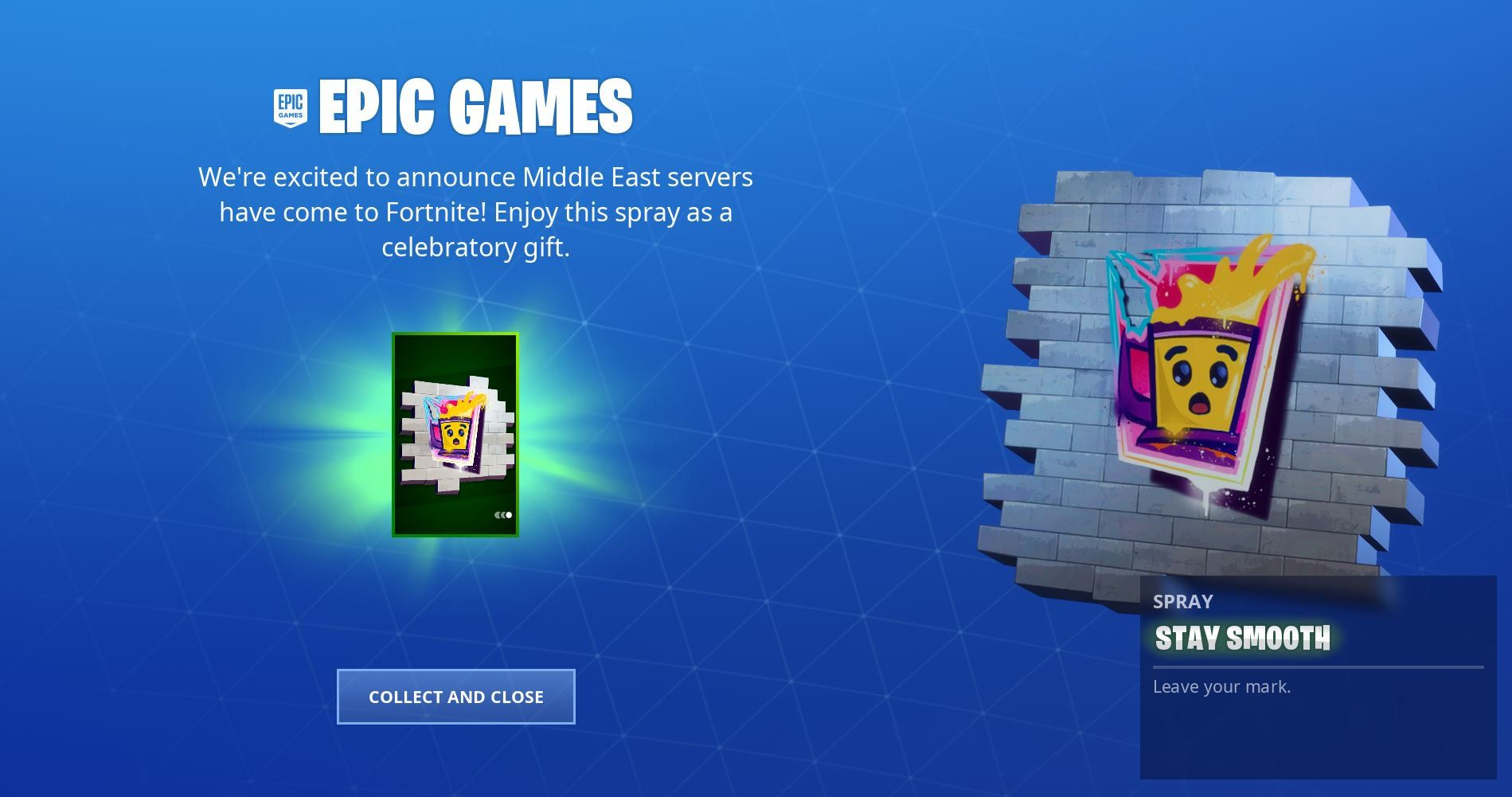 Epic Games Providing Free Fortnite Stay Smooth Spray To All Players Heres How To Get Yours Epic Games Are Providing All Fortnite Pla Fortnite Epic Games Epic