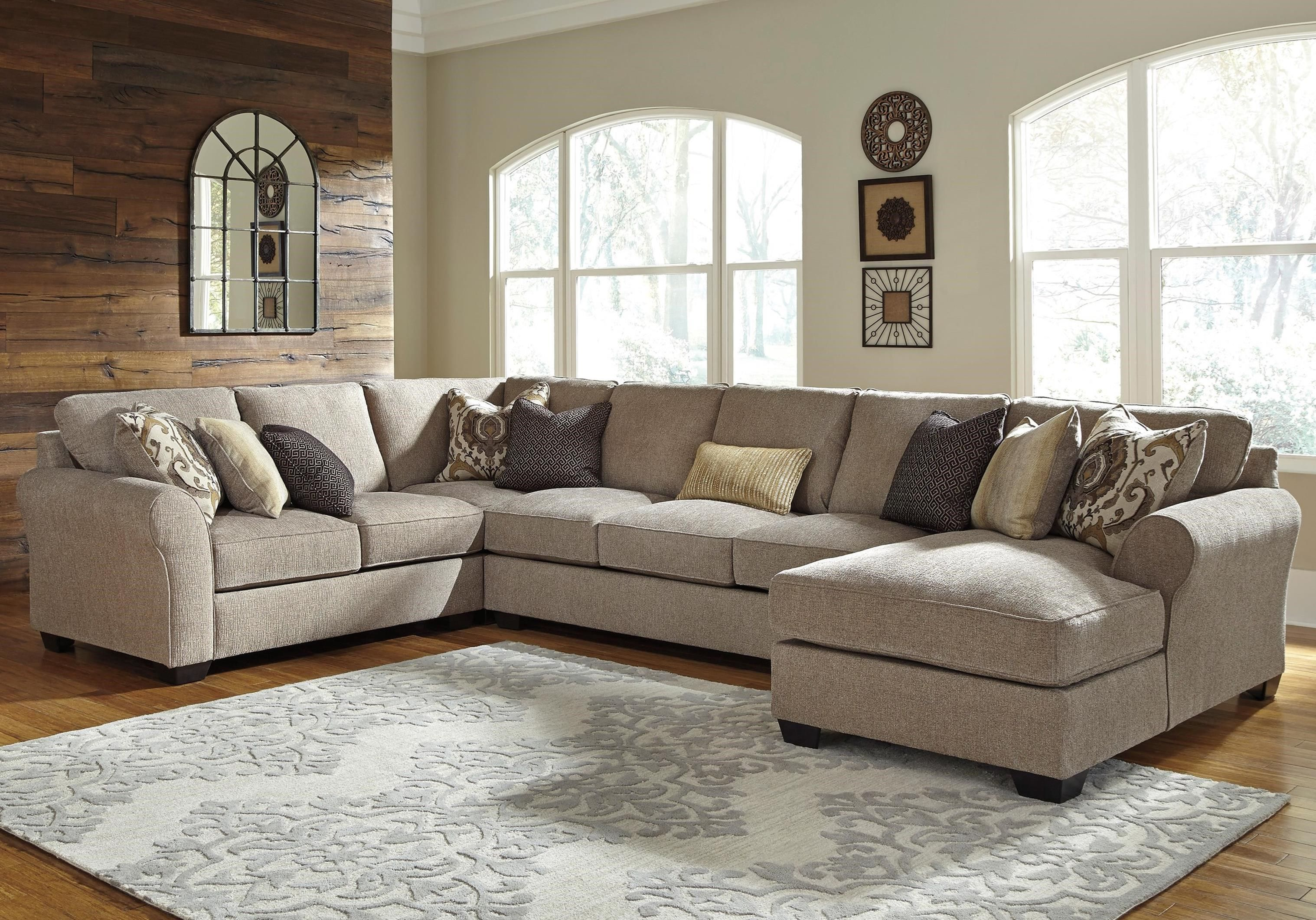 Best Pantomine 4 Piece Sectional With Right Chaise Armless 400 x 300