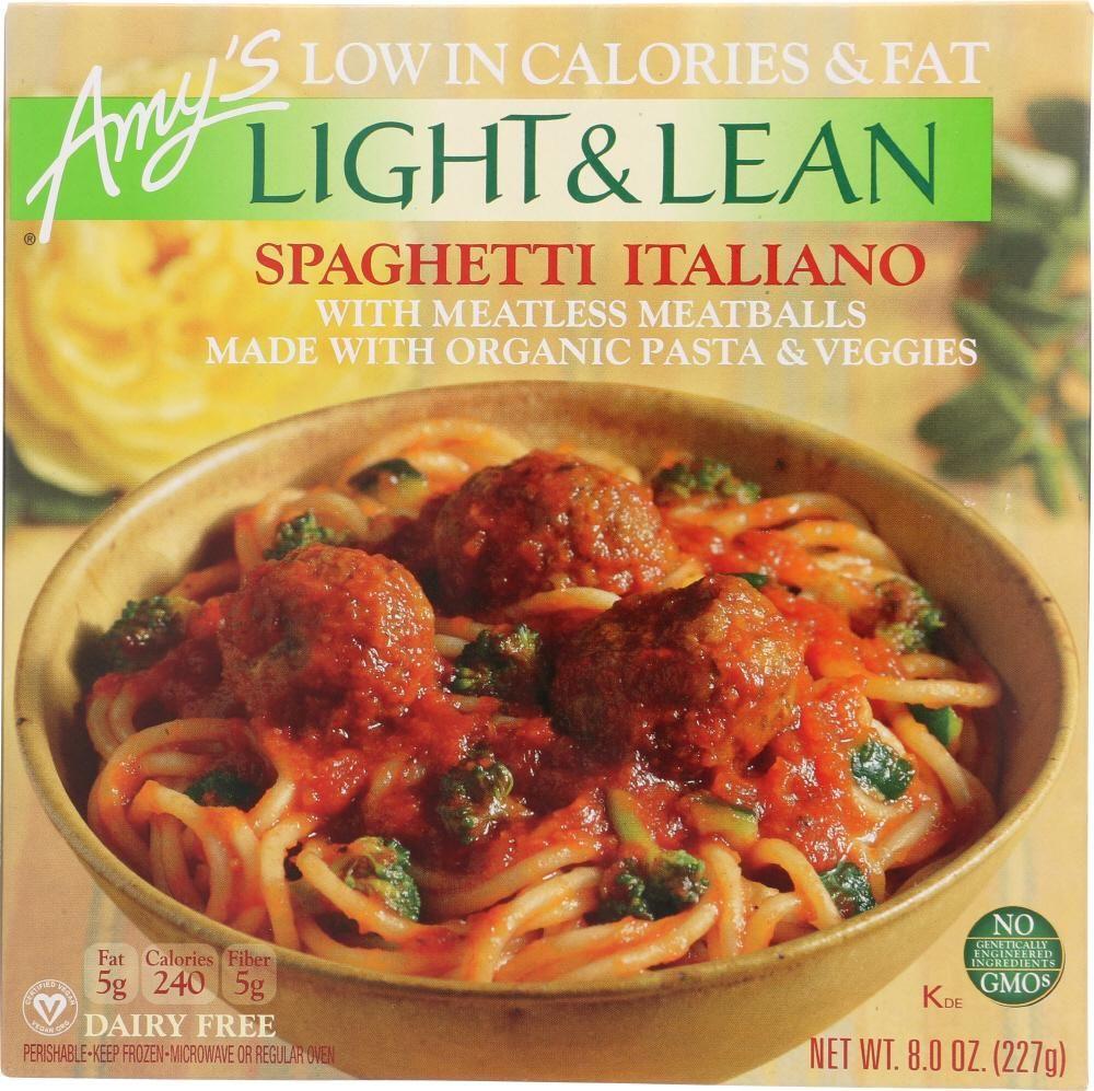 Amys light lean spaghetti italiano 8 oz meatless