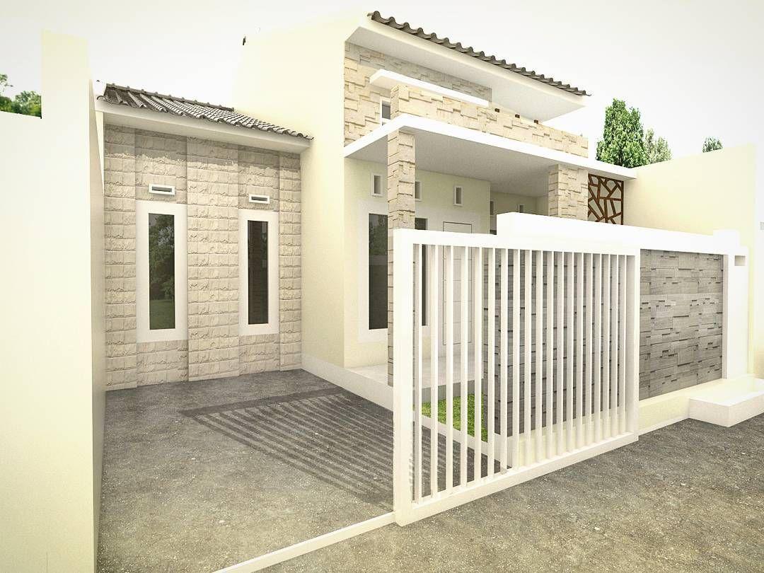 Desain Teras Batu Alam Rumah Minimalis Type 36 Rumah Minimalis Rumah Modern Desain Rumah