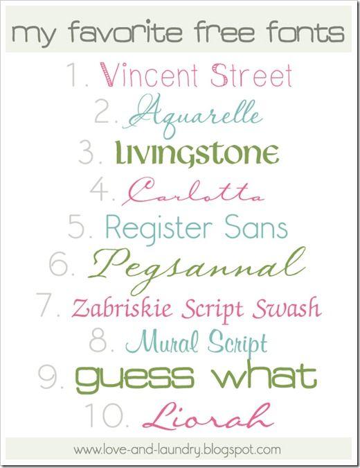 Favorite Free Fonts | Fonts | Fuentes, Tipografía, Sobres de papel