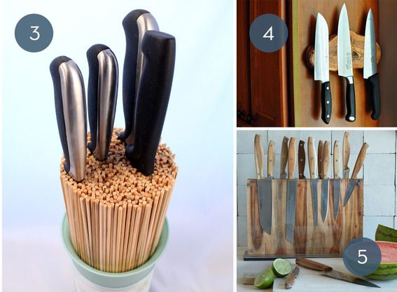 How To Store Kitchen Knives | Toss The Block 10 Creative Ways To Store Kitchen Knives Diy