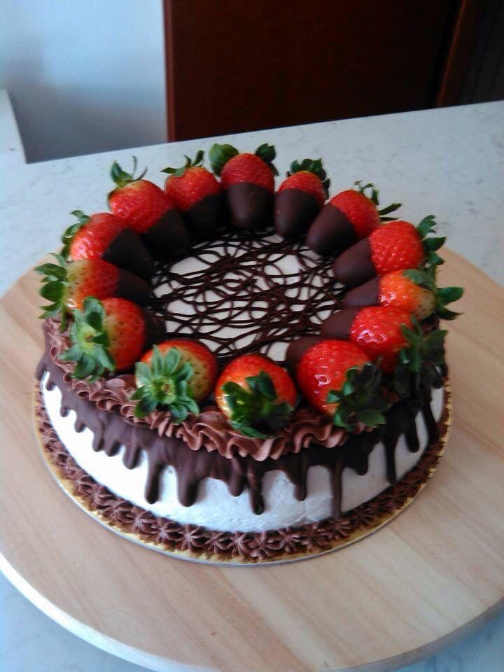 Torta Panna E Fragole Diferentes Pasteles Torta De Chocolate