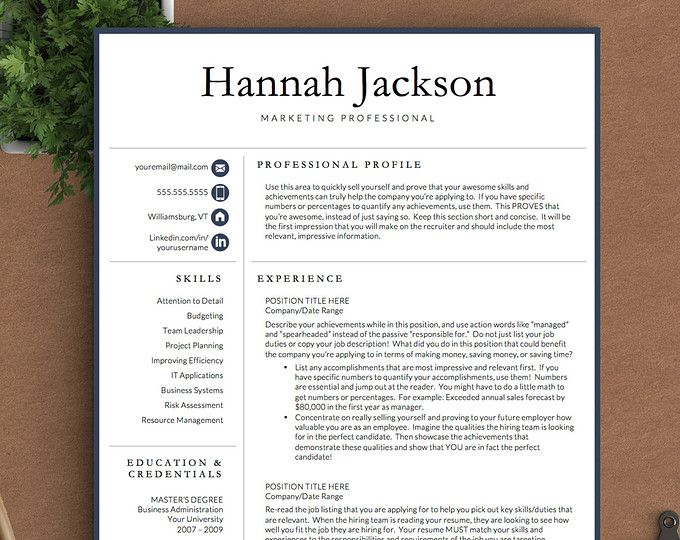 Browse Unique Items From Thetemplatestudio On Etsy A Global Marketplace Of Handmade Vintage And Creative Goods Professional Resume Creative Resume Templates Modern Resume Template