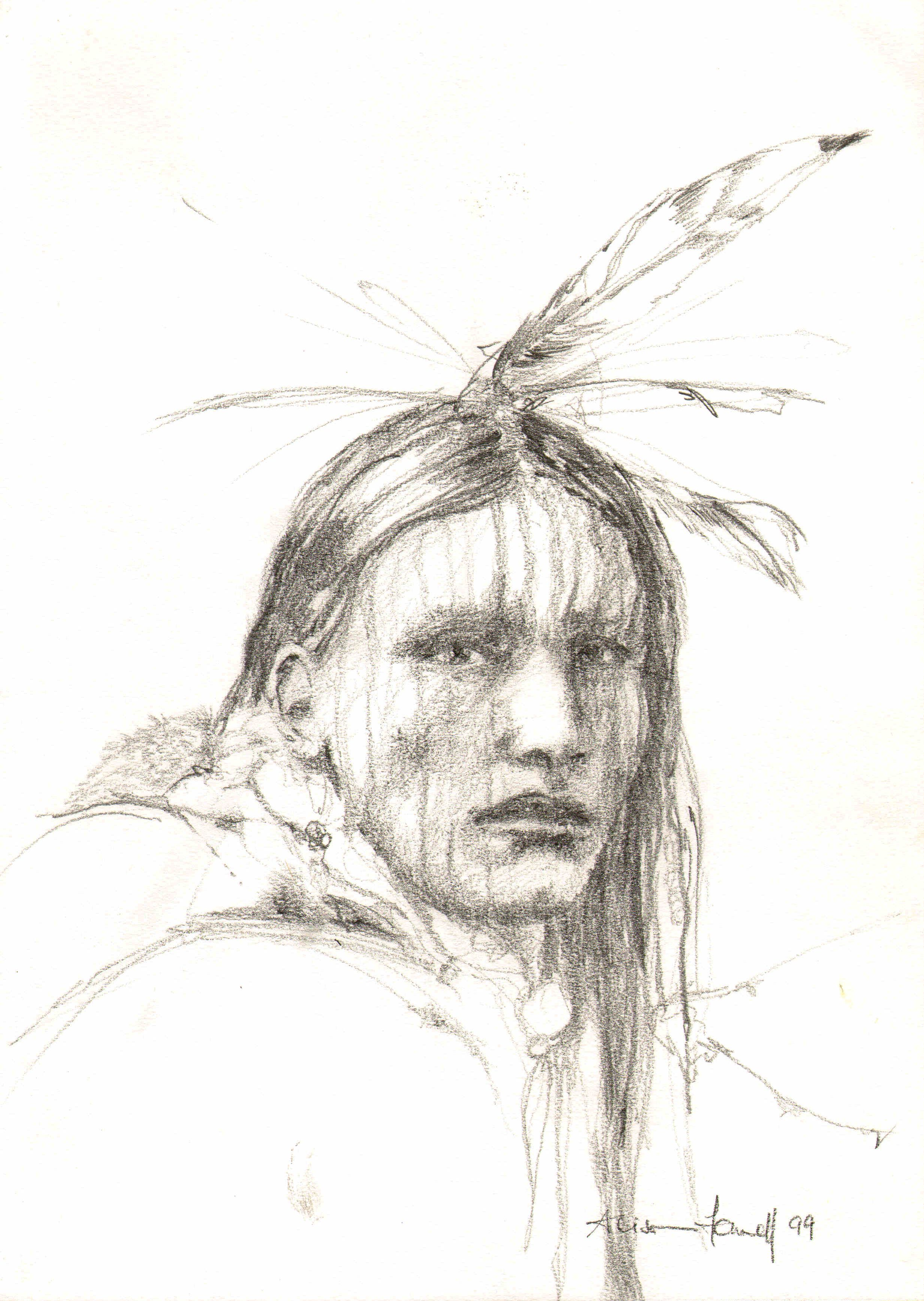 Native american sketches completely differentnative american pencil portraits eastwitching