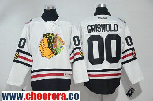 a087bcf9d Men s Chicago Blackhawks  00 Clark Griswold White 2017 Winter Classic  Stitched NHL Reebok Hockey Jersey