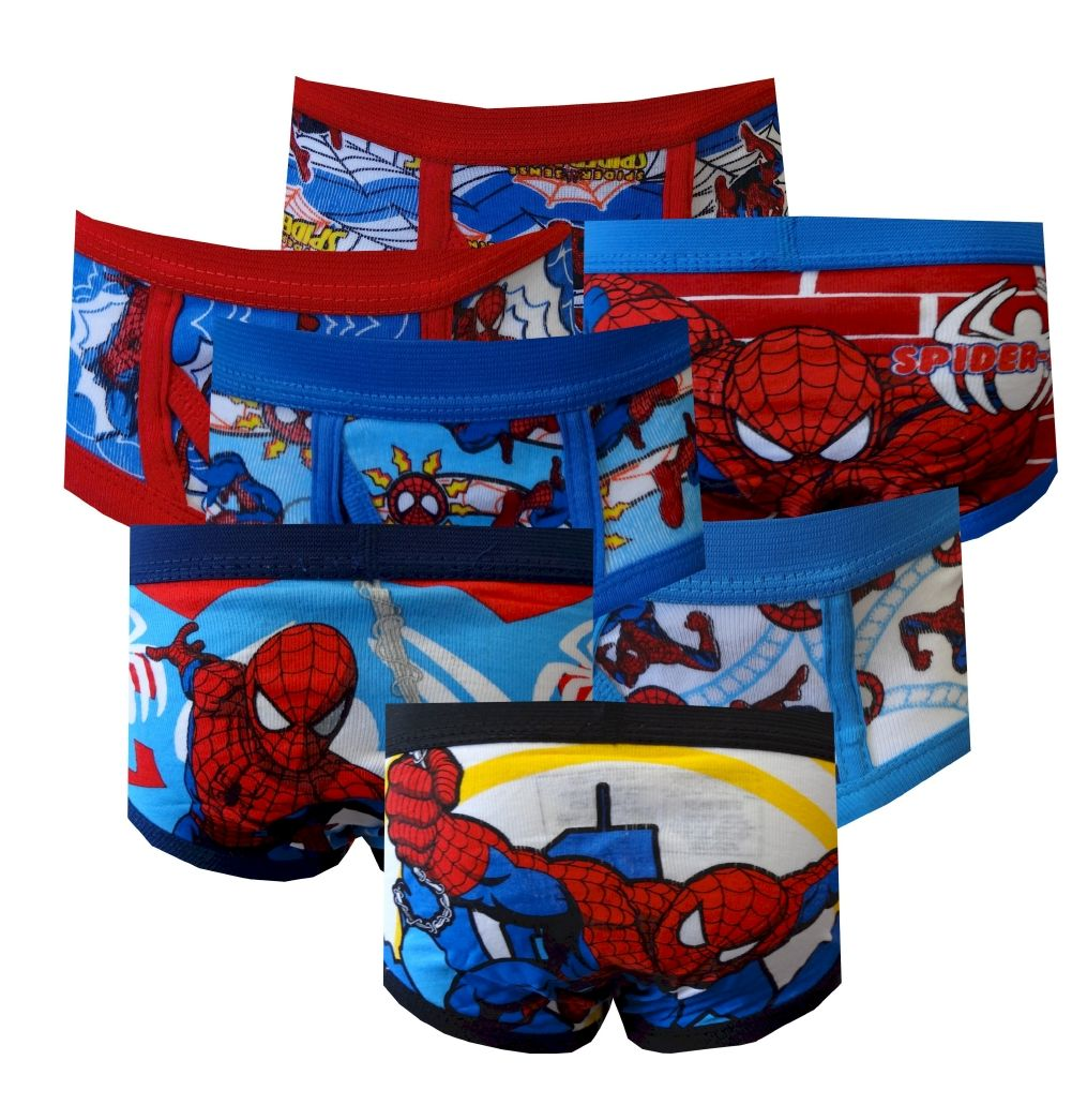 Marvel Comics Spiderman Boys Toddler 7 Pack Briefs, $20 One for ...
