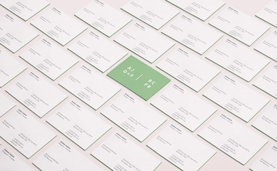 تحميل موك اب بزنس كارد Business Card Mock Up Business Card Psd Free Business Card Mockup
