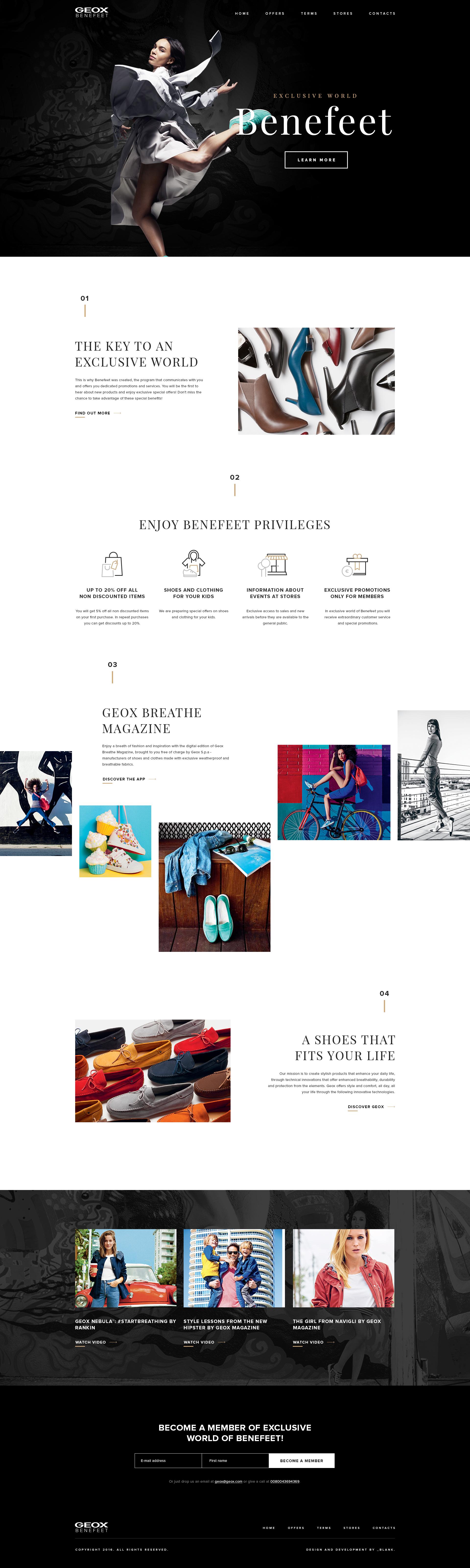 Geox benefeet landing page