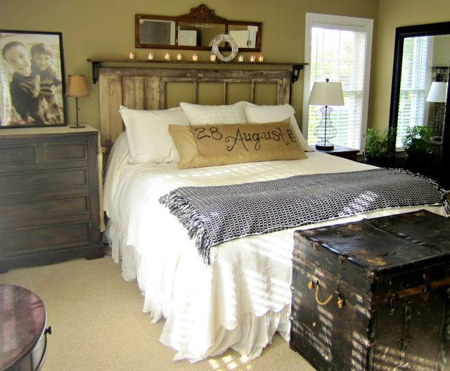 Black, White & Earth Tones | Rustic master bedroom, Home ...