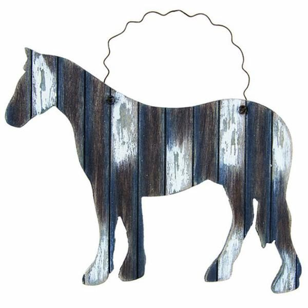 Weathered Wooden Horse Ornaments 12940 Cowboy christmas