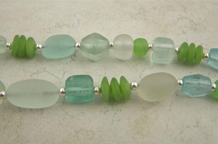 Polymer Sea Glass Beads Polymer Clay Beaded Bracelets