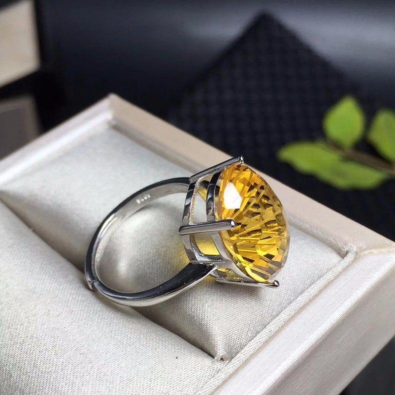 Handmade Ring  Gold Plated Ring  Citrine  Ring   Raw Stone Ring  Unique  Ring  Women Ring   Fashion  Ring Birthday Gift Wedding Gift