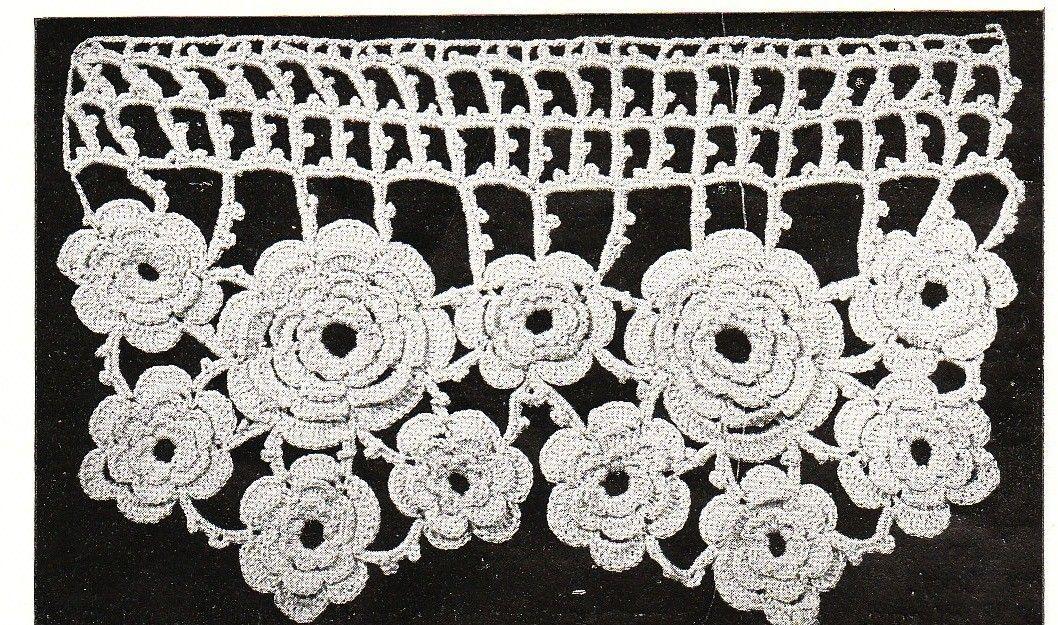 Instant download-Vintage crochet pattern-irish crochet roses pdf via ...
