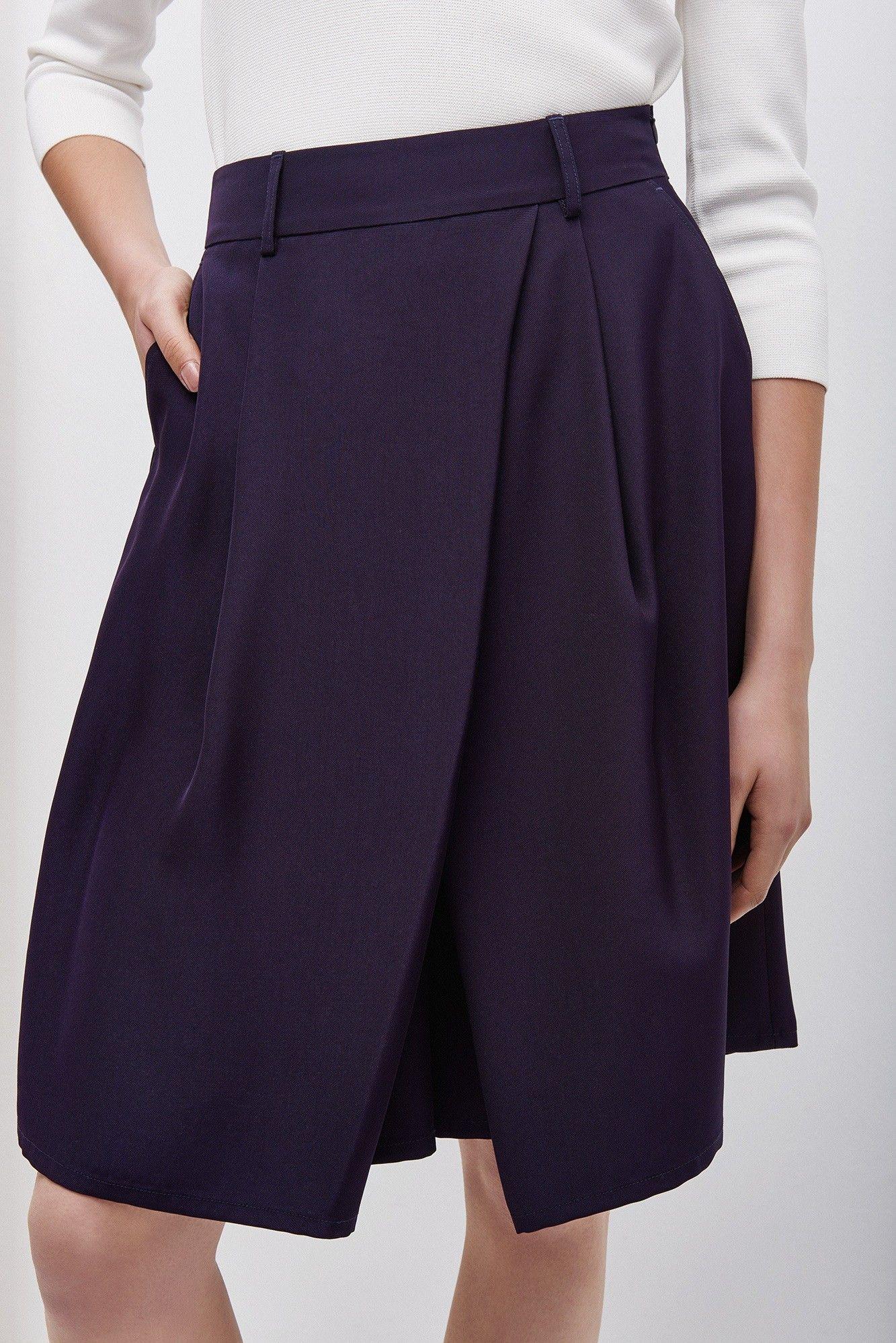 85d4bfa94 Falda-pantalón de corte fluido | Adolfo Dominguez shop online | Mis ...