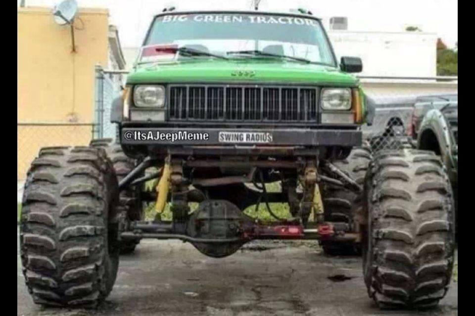 Jeep Cherokee With 1 Ton Axles Ready For The Trails Jeep Memes