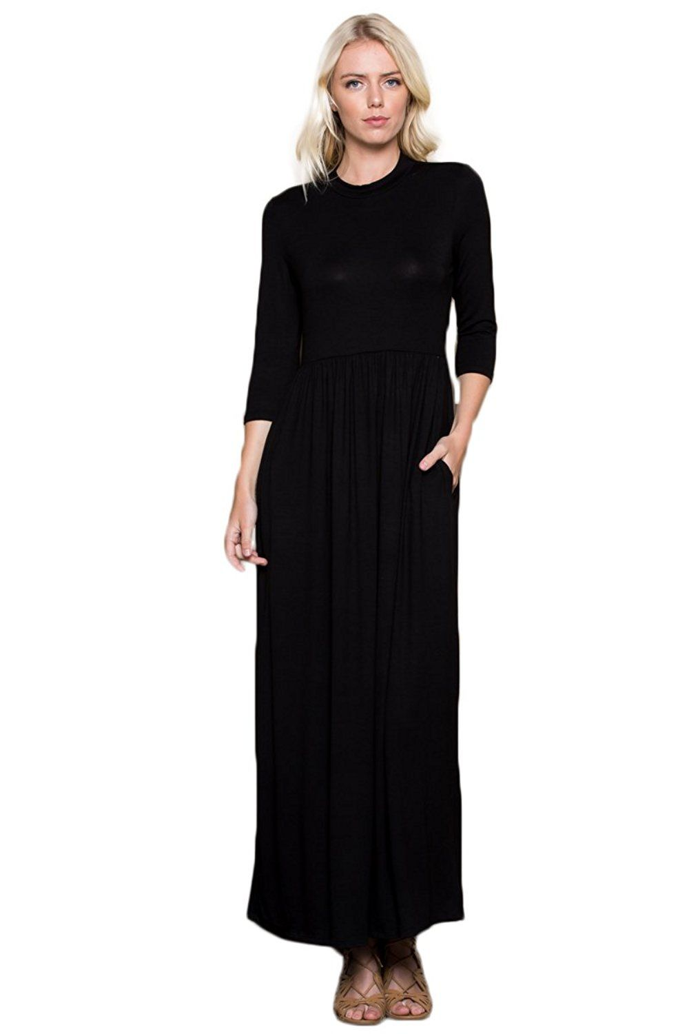 Womenus sleeve long maxi dresses with side pockets at amazon