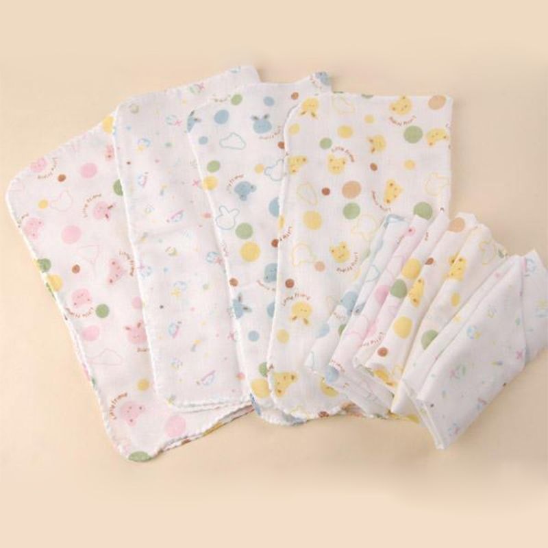 Click To Buy 5pcs Lot 100 Cotton Baby Towel Gauze Handkerchief Small Square Towel Children Towels Baby Care Baby Sal Baby Supplies Towels Kids Baby Care