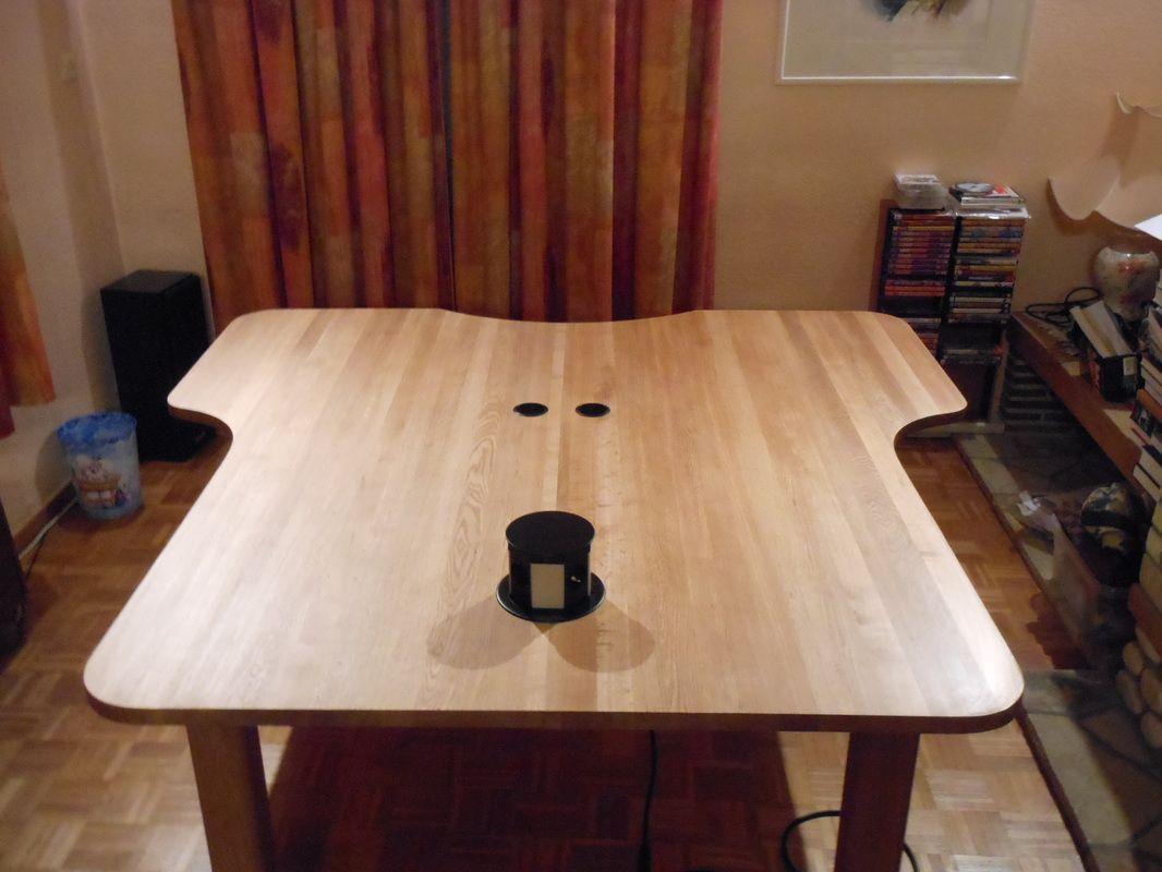 Werktafel voor 3 personen in eik