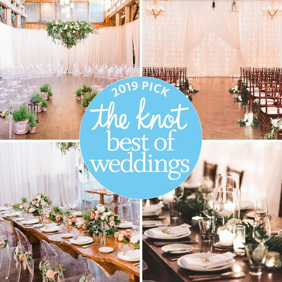 """We Are Honored To Be Recognized By The Knot As A 2019"