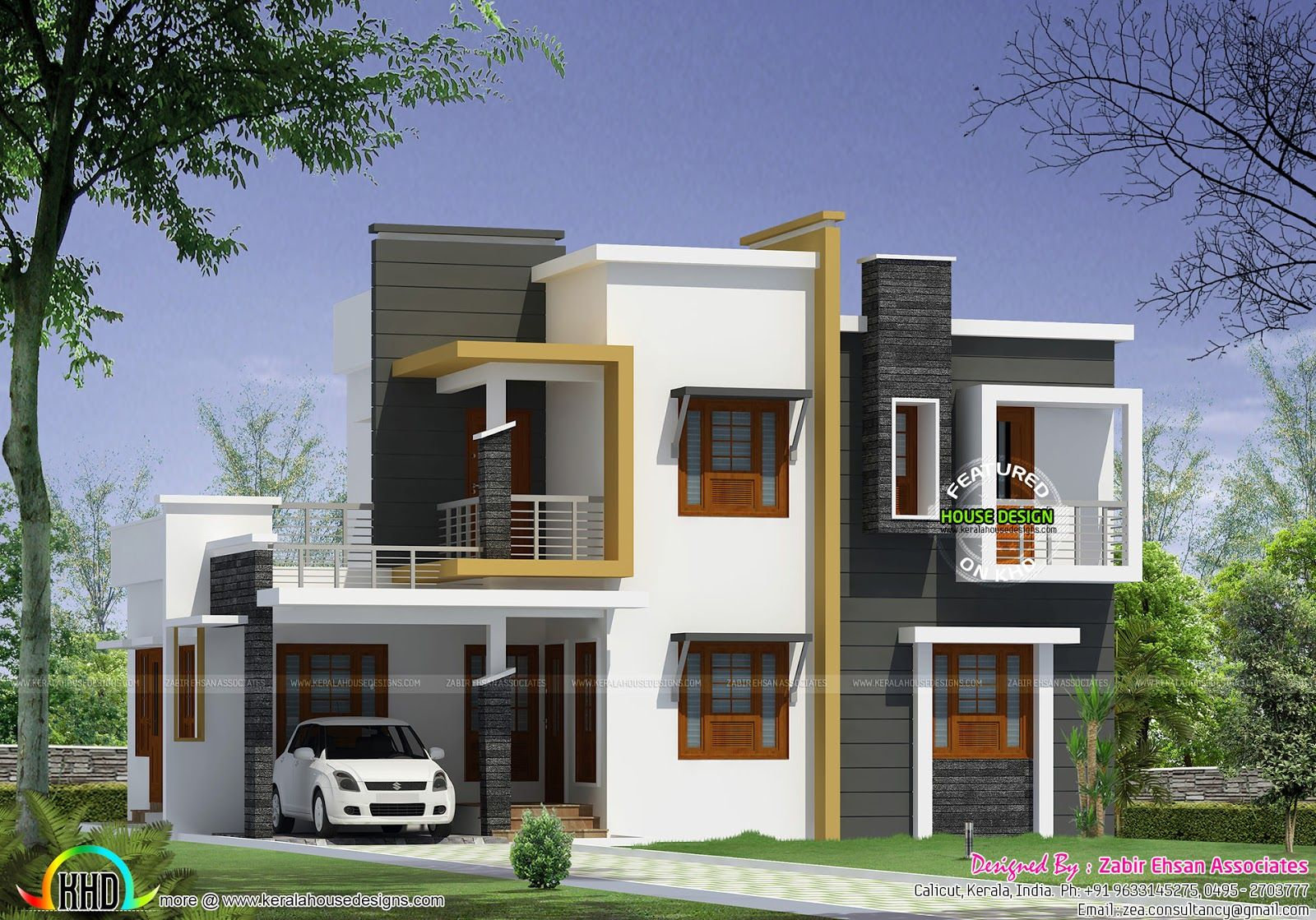 Box Type Modern House Plan Kerala Home Design And Floor Plans Images