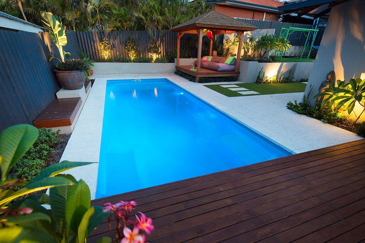 Designer Inground Pools In Brisbane Are In A Ready To Install Mode Backyard Pool Landscaping Fiberglass Pools Pool Landscaping