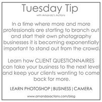 Learn How CLient Questionnaires Can Take your Photography Business to the Next Level
