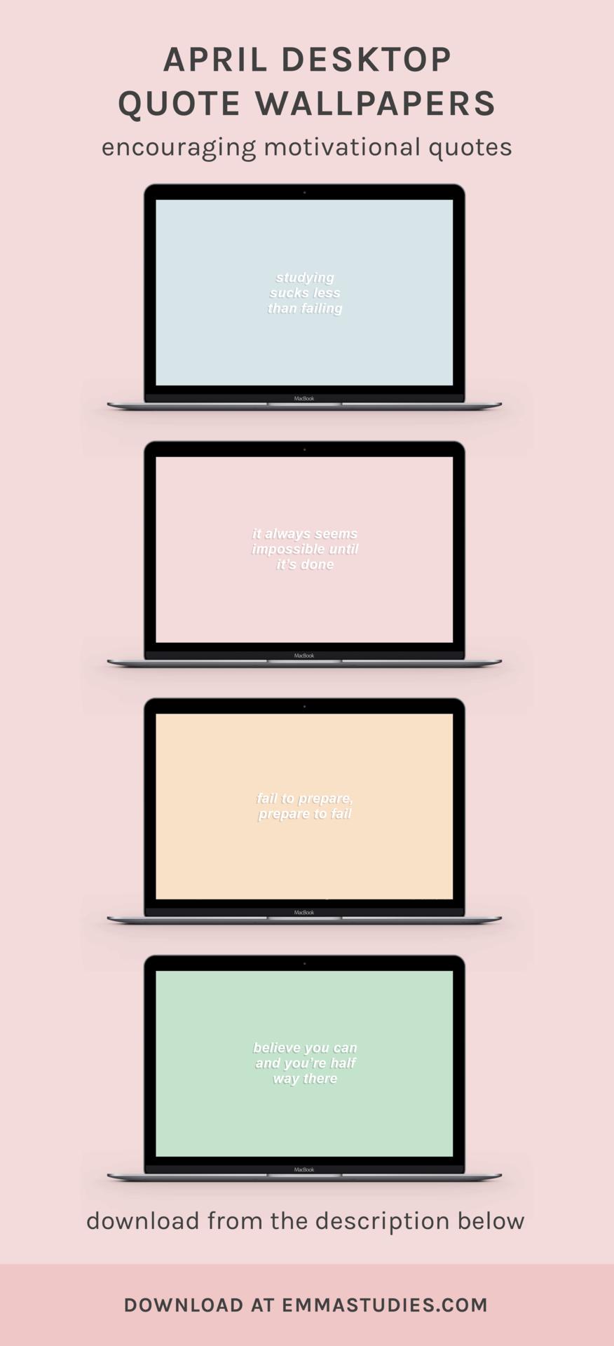 Emma S Studyblr Motivational Wallpaper Study Laptop Motivation Study Motivation