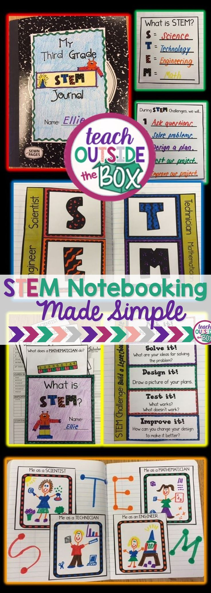 STEM Notebooking for Elementary Students! | Interactive Notebooks | Graphic Organizers | STEM Challenges | STEM Projects
