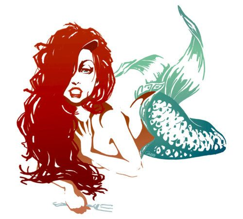 Though I don't want Ariel, I do want a sexy mermaid tattooed on my hip--a black woman, with locs and tattoos and piercings...possibly roped to an anchor.