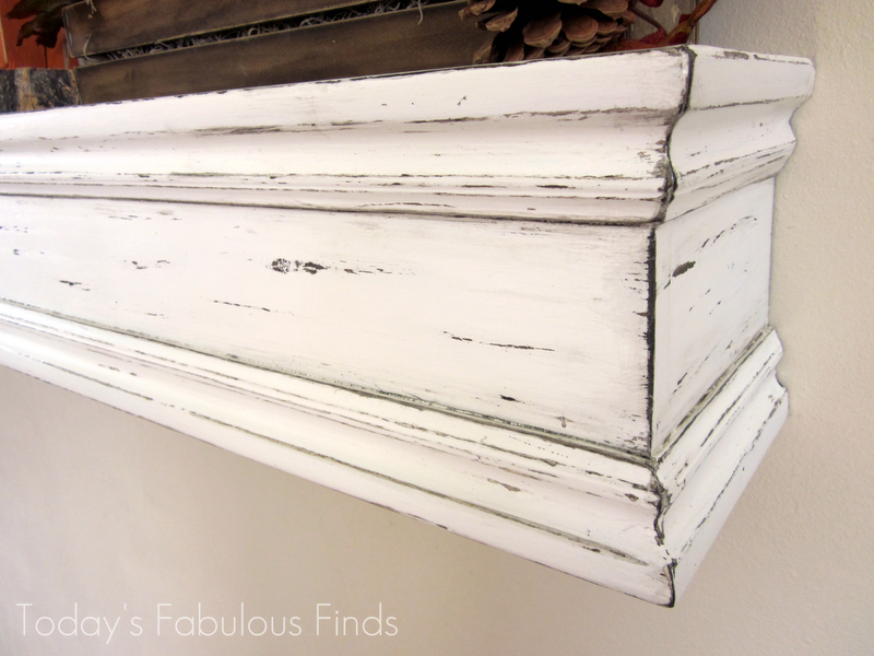 Diy mantel shelf and how to hang it at todays fabulous finds diy mantel shelf and how to hang it at todays fabulous solutioingenieria Images