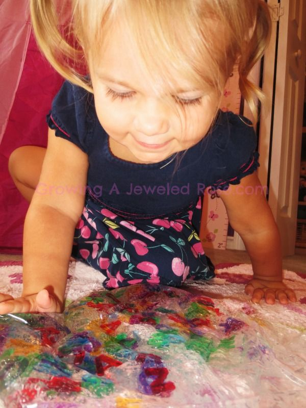 Growing A Jeweled Rose: Fun with Sensory Bags